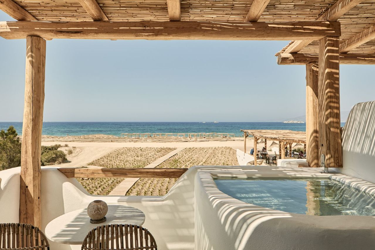 Naxian on the beach luxury boutique hotel in naxos greece for Luxury beach boutique hotels